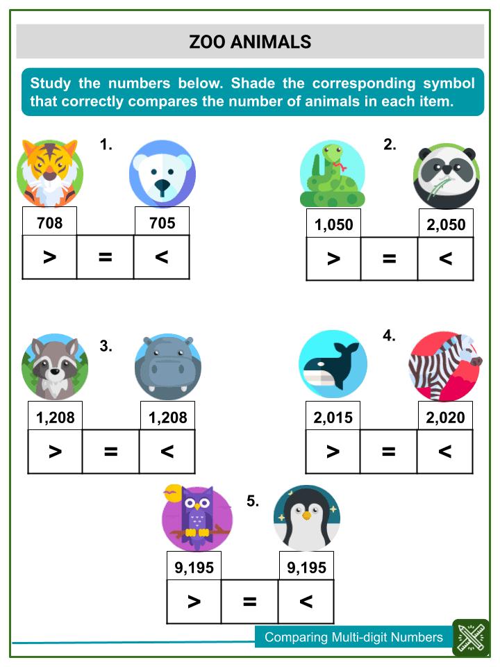 Comparing Multi-digit Numbers (3)