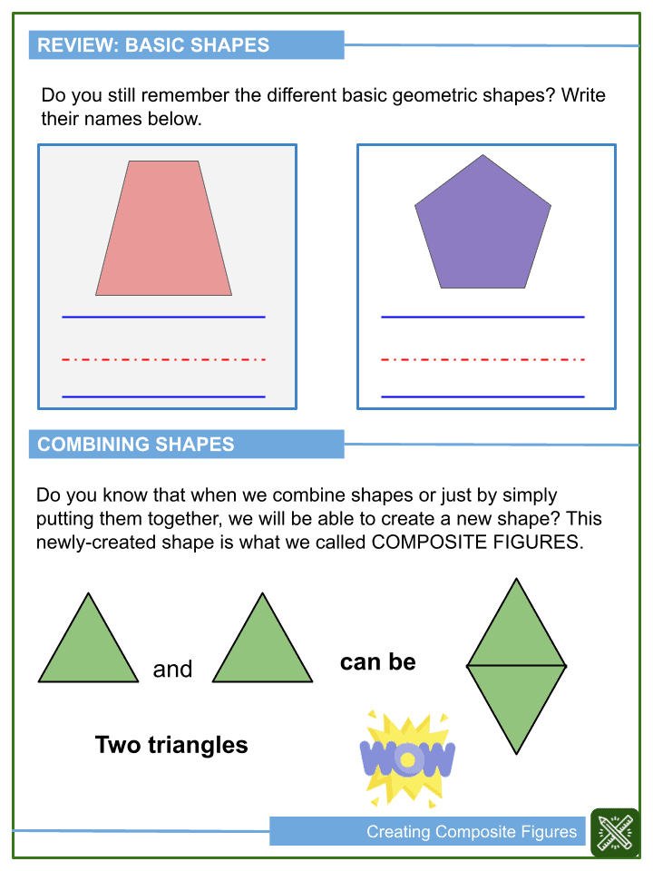 Creating Composite Figures Worksheets (2)