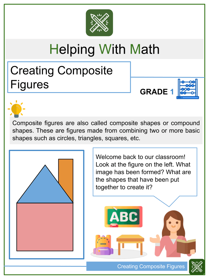Creating Composite Figures Worksheets