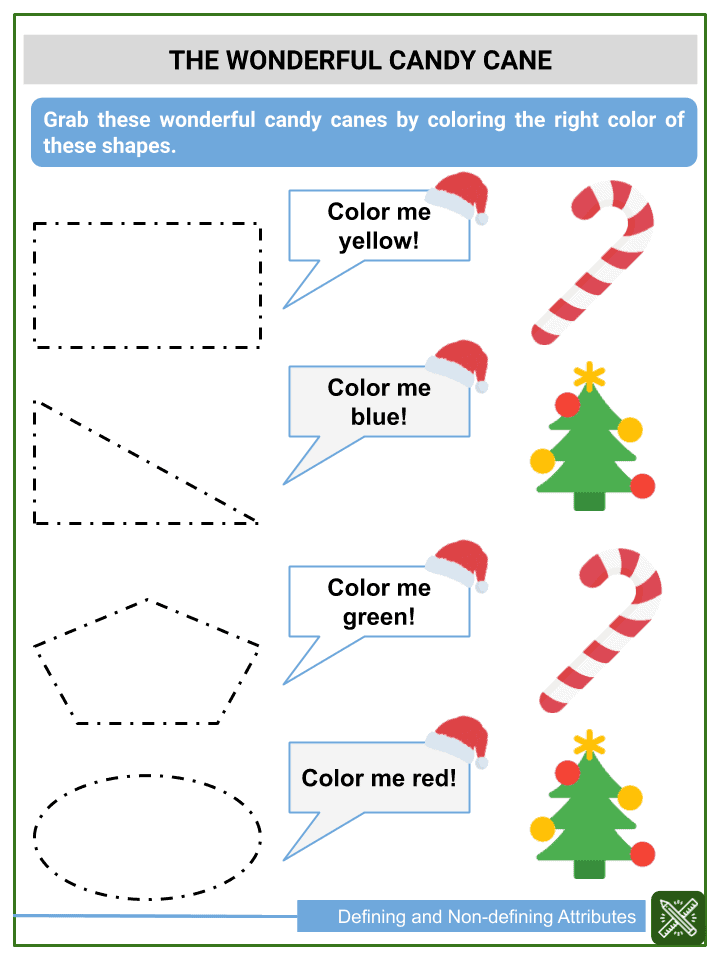 Defining and Non-defining Attributes of Shapes Worksheets (3)