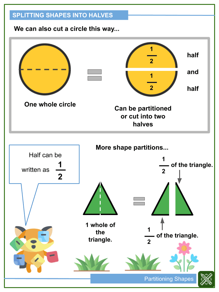 Partitioning Shapes Worksheets (1)