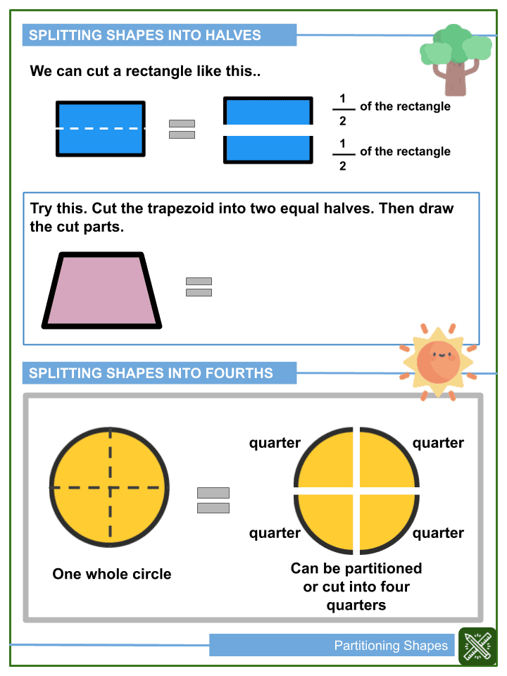 Partitioning Shapes Worksheets (2)