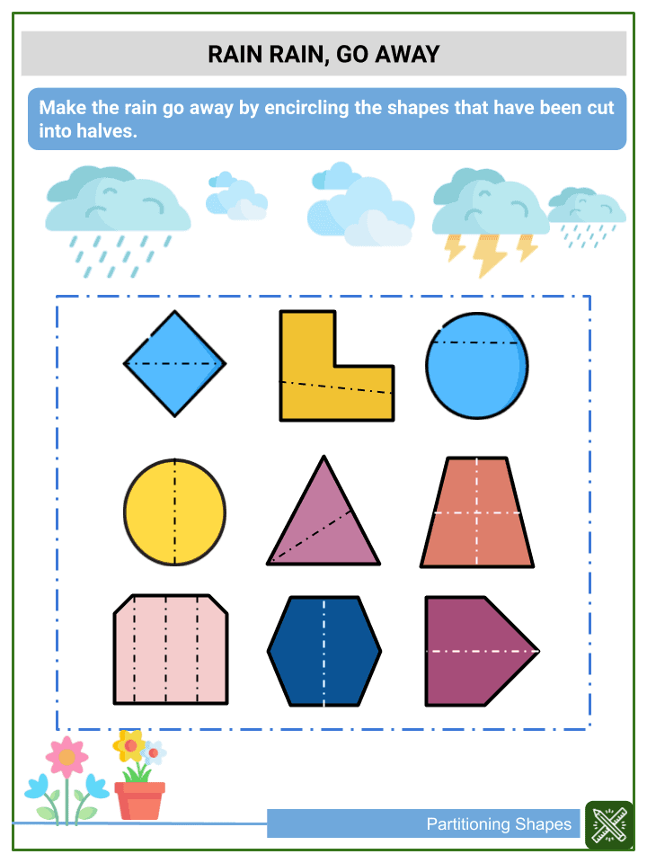 Partitioning Shapes Worksheets (3)
