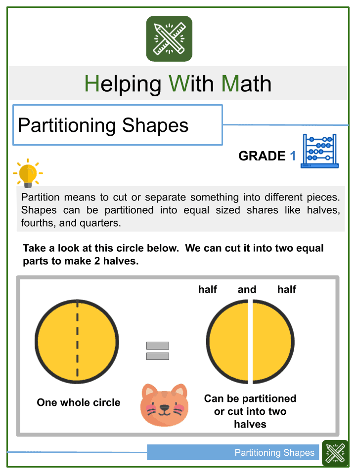 Partitioning Shapes Worksheets