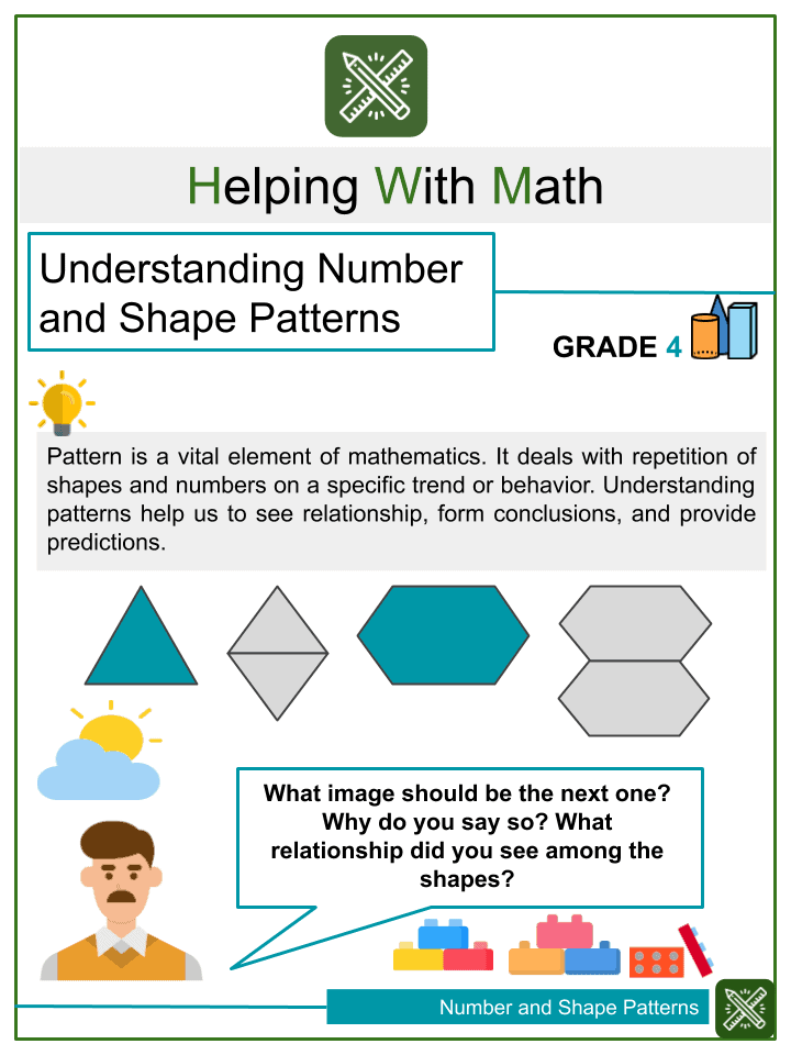 Understanding Number and Shape Patterns Worksheets