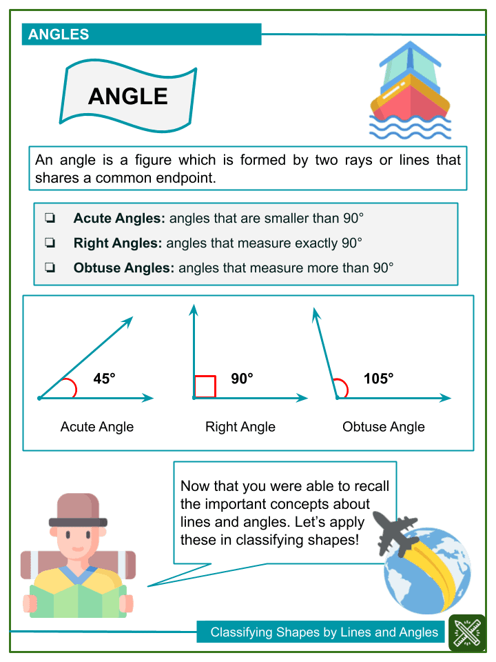 Classifying Shapes by Lines and Angles Worksheets (2)
