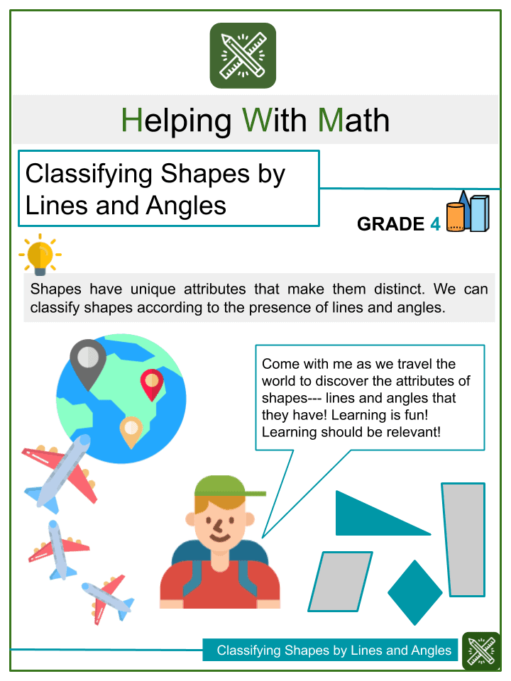 Classifying Shapes by Lines and Angles Worksheets