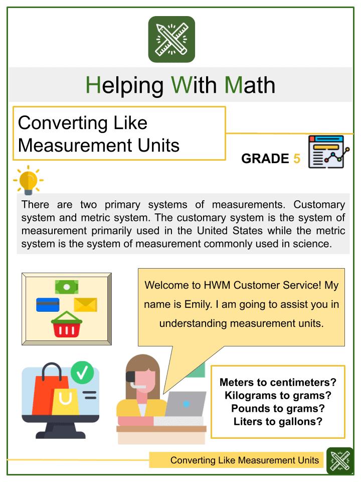 Converting Like Measurement Units Worksheets
