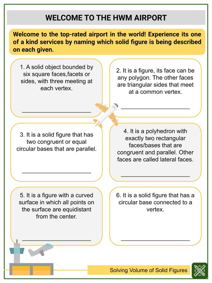 Solving Volume of Solid Figures Worksheets (3)