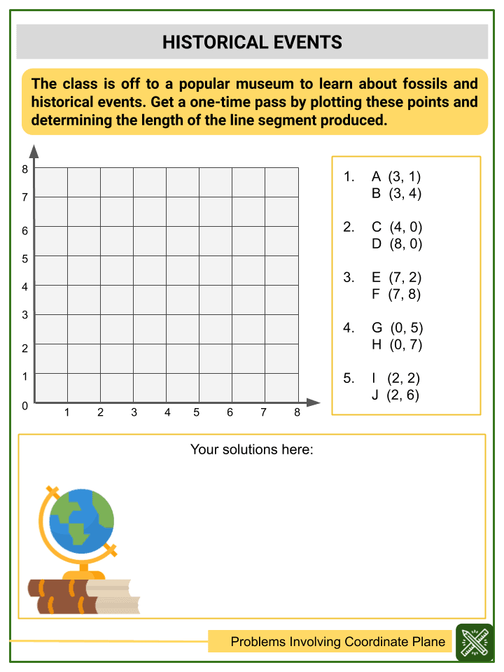 Solving Word Problems Involving Coordinate Plane Worksheets (3)