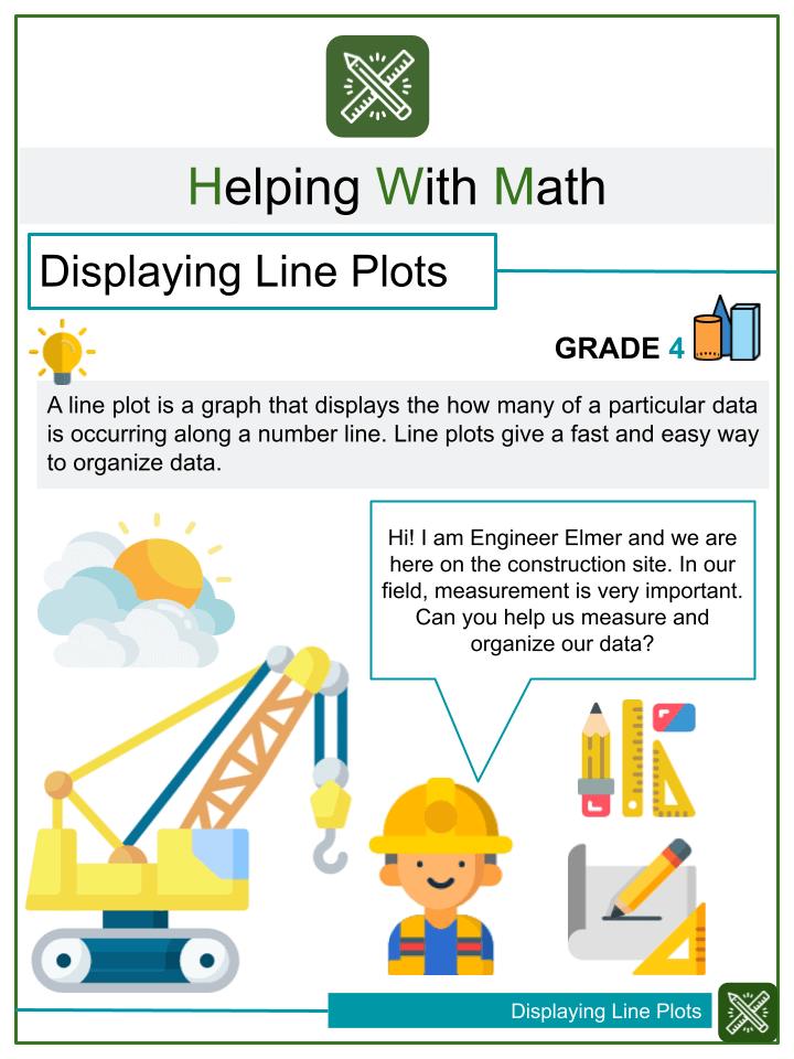 Displaying Line Plots Worksheets