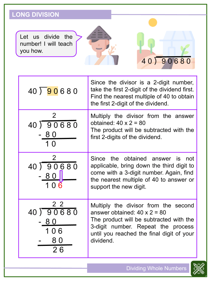 Dividing Whole Numbers Worksheet (1)