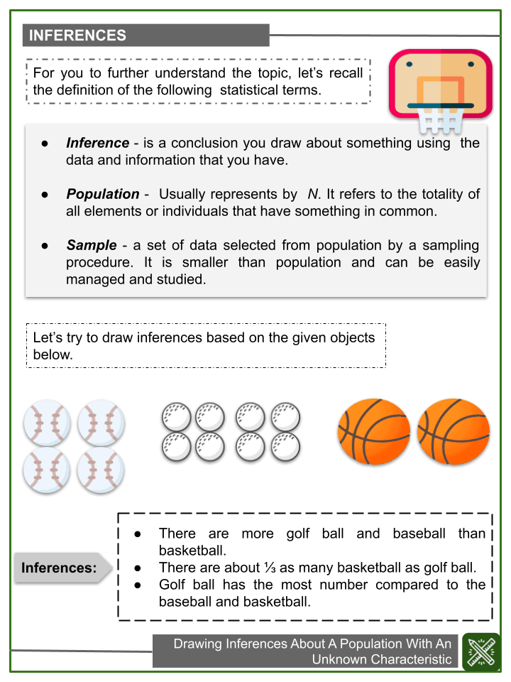 Drawing Inferences About A Population With an Unknown Characteristic (1)