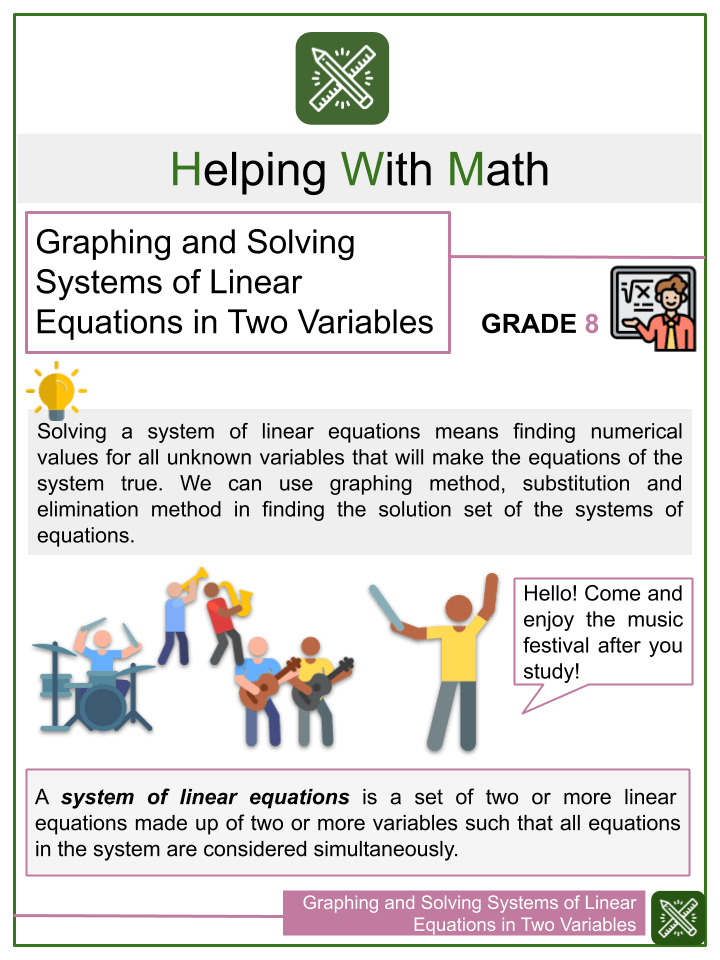 Graphing and Solving Systems of Linear Equations in Two Variables
