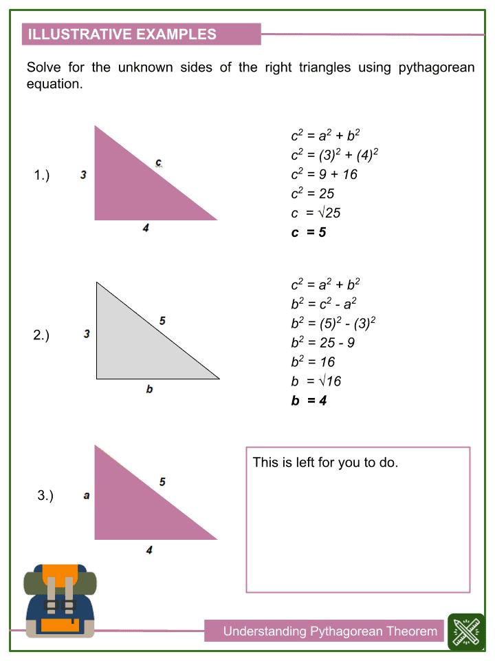 Understanding Pythagorean Theorem Worksheets (2)