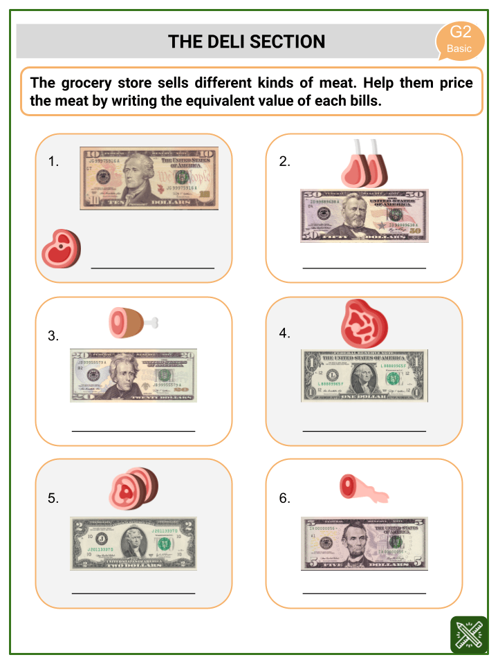 Addition Involving Money Worksheets (3)