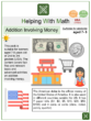 Addition Involving Money (Ages 7-8) Worksheets (Supermarket themed)