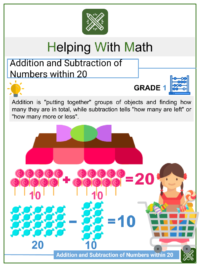 Addition Flash Card: Sums to 18