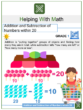 Addition and Subtraction of Numbers within 20 1st Grade Math Worksheets