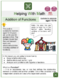 Addition of Functions (Ages 12-14) Worksheets (Festival themed)