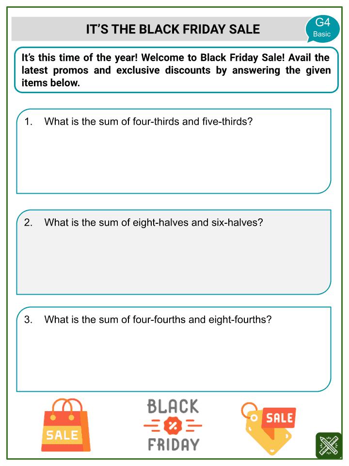 Addition of Improper Fractions Worksheets (3)