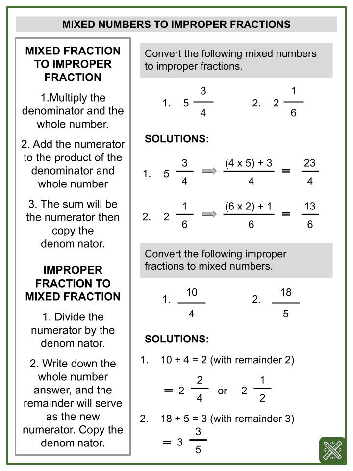 Addition of Mixed Numbers Worksheets (1)
