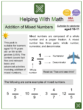 Addition of Mixed Numbers (Ages 10-11) Worksheets (Aviation themed)