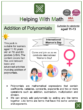 Addition of Polynomials (Ages 11-13) Worksheets (International Women's Day Themed)