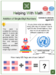 Addition of Single-Digit Numbers (Ages 4-5) Worksheets (United Nations' Day)