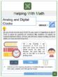 Analog and Digital Clocks 1st Grade Math Worksheets