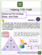 Applying Percentage, Base, and Rate 6th Grade Math Worksheets
