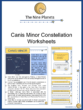 Canis Minor Constellation Worksheets
