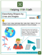 Classifying Shapes by Lines and Angles 4th Grade Math Worksheets