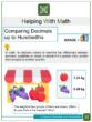 Comparing Decimals up to Hundredths 4th Grade Math Worksheets