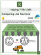 Comparing Like Fractions 3rd Grade Math Worksheets