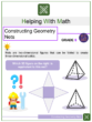 Constructing Geometry Nets 6th Grade Math Worksheets