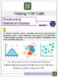 Constructing Statistical Displays 6th Grade Math Worksheets