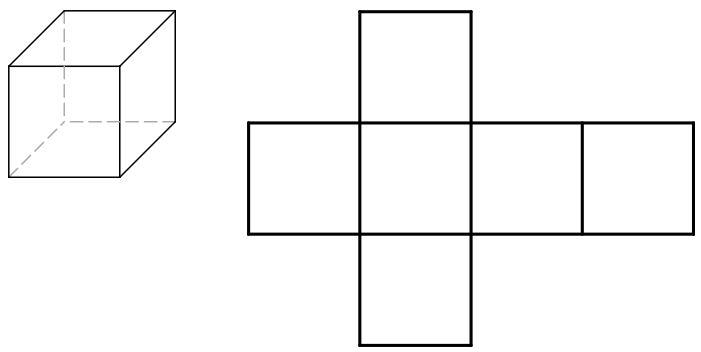 3D representation of a cube