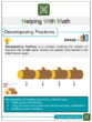 Decomposing Fractions 4th Grade Math Worksheets