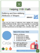 Defining and Non-defining Attributes of Shapes 1st Grade Math Worksheets
