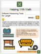 Different Measuring Tools for Length Worksheets
