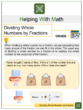 Dividing Whole Number by Fraction 5th Grade Math Worksheets