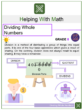 Dividing Whole Numbers 6th Grade Math Worksheet