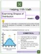 Examining Shapes of Distribution 6th Grade Math Worksheets