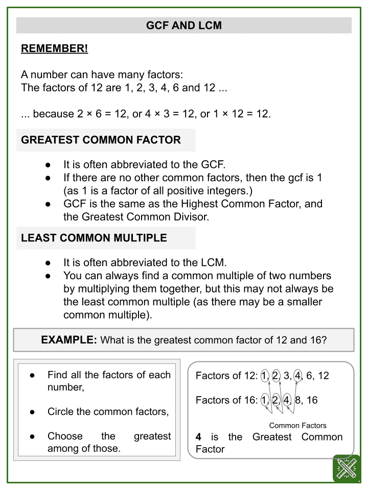 Factors and Multiples (Space themed) Worksheets (1)