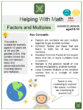 Factors and Multiples (Ages 8-10) Worksheets (Space themed)