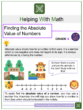 Finding the Absolute Value of Numbers Worksheets