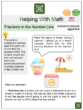Fractions in the Number Line (Summer Themed) Worksheets