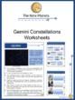 Gemini Constellation Worksheets