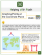 Graphing Points on the Coordinate Plane 5th Grade Math Worksheets